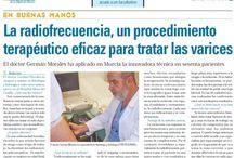Prensa / Noticias publicadas en la prensa de Murcia sobre el Dr. German Morales y el tratamiento de Varices