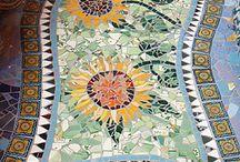 tappeto di pietre mosaico