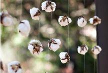 Decoração -bodas de algodão