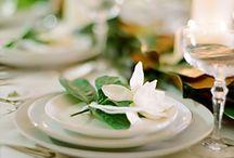 lemons magnolia flowers vintage cups