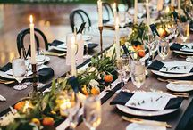Black and orange wedding