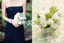 flowers + wedding. / peach. mint. blush. succulents. in season. garden roses. dusty miller. / by Molly Magnifico