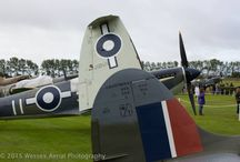 Goodwood Revival 2015 / Warbirds and other aircraft at the Goodwood Revival in 2015. Many Spitfires and Hurricanes gathered there for the Battle of Britain 75th anniversary.  The aircraft departed in sections on Battle of Britain Day, September 15th.