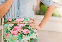 Flowers and patterns skirts