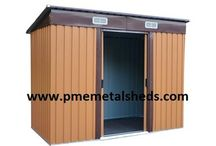 Buy 8 x 10 ft Outdoor Steel Sheds Apex Metal Sheds from pmemetalshes / Metal Sheds, Garden Sheds, Steel Sheds, Apex Roof Metal Sheds, Pent Roof Metal Sheds, Outdoor Storage, Garden Steel Building PME 8'x 10' Apex Metal Sheds Size: 8 ft x 10 ft Dimensions: Depth 3120 mm x Width 2570 mm x Height 1775 mm With 2 slide doors, 4 vents Door Height: 1540 mm Shanghai Passion Machinery Equipment Co., Ltd.  www.pmemetalsheds.com