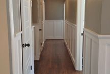 Wainscoting and moulding