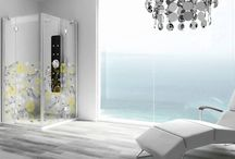 Glass Printing Technology / Made to measure and customized shower enclosures.