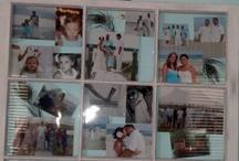 Hanging wedding photos