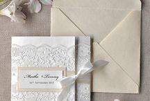 Bryllaupsinvitasjonar/bordkort