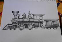 croquis train