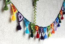 Girlanden & Mobilee / DIY Girlanden für Wohnung, Balkon und Garten. Dekorative Girlanden ob für das Gartenfest oder Kinderfest   Garlands   Mobilee   Häkeln, Basteln, selber machen, Kreative Girlanden, Mobiliee
