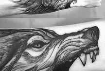 tatuaz wilk
