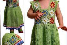 vestidos em crochet para meninas