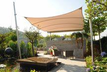 Moderner Garten, schöne Terrasse / Places outside