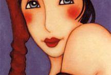 Faces, women