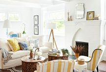 Fave Furnishings- White, beige, blue, yellow