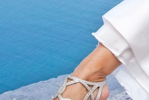 Wedding Shoes / Either high heels or flat sandals bridal shoes are always amazing! Find the perfect pair of shoes matching for your wedding dress and wedding theme / by Santorini Weddings