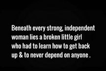 Strong independent women