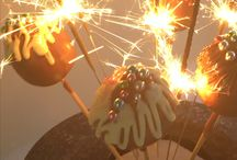 Guy Fawkes / Cake pops featuring sparklers