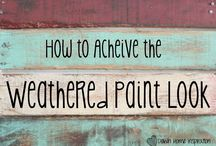 Weathered paint look