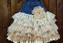 Denim vintage and lace baby
