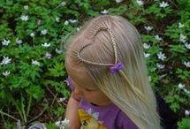Jente hår