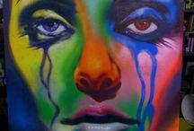 I mie lavori / Street art, Graffiti,