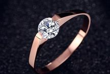 ++++Elegant+Damen Solitär Edelstahl Ring+ Gr 49 (15,6 mm Ø)+++ 11,90 Euro
