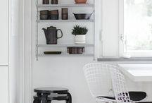 Scandinavia / Scandinavian design, grey, white, monochrome, clean lines, wood, pine, interiors, pastels, metallic