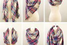 Wie man einen Schal 'bindet'