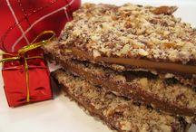 Vegan Holiday Chocolate Gifts / Handmade gourmet vegan chocolates. Vegan English Toffee, Cashew Brittle, Cinnamon Toast Toffee and more!