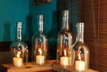 Wine Bottle Ideas / Cool design for recycled wine bottles