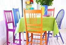 colorful chairss
