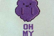 Geeky nerdy cross stitch