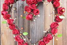 coronas corazon flores