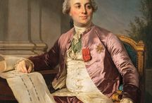 Historical portraits of men in pink