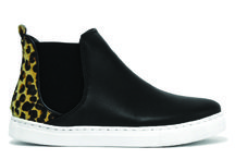 Wynonna / Mποτάκια με λευκή σόλα για ξεχωριστές εμφανίσεις! No: 36-41, Φόρμα:Κανονική, Χρώματα: Μαύρo/leopar & Leopar/μαύρο #boot #sneaker #urbanstyle #excelshoes