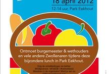 Stadspicknick - woensdag 18 april 2012 / Neem je lunchpakket, collega's, vrienden en/of familieleden mee. Op woensdag 18 april was er van  12.00 - 14.00 uur een stadspicknick in Park Eekhout. Iedereen was welkom en kon met burgemeester en wethouders in gesprek gaan. De picknick werd georganiseerd door de initiatiefnemers van 7 days of inspiration en @038picknick in samenwerking met de Week van de Verbinding / Gemeente Zwolle.