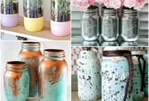 Painted mason jars / by Ava Stanfield