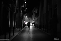 Film Noir Style / Long shadows, dark nights. Old and new film noir style photography.