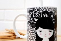Ceramic Collection / The illustrations of Paparajote Factory now on mugs! Designs printed on porcelain