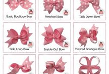 Cute bows as for design