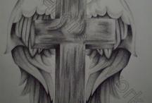 십자가 문신
