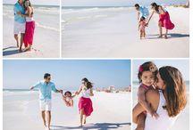 Fotos de la familia en la playa