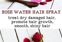 Rose water for hair spray