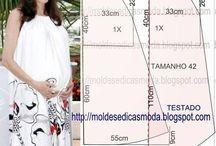 Hamile elbisesi model kalıbı