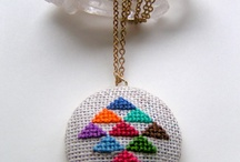 Cross stitch jewelery