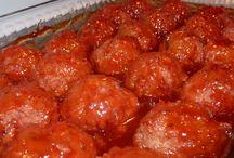 ham loaf / meatballs
