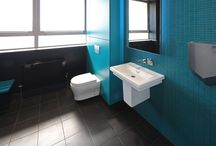 Iconica Collection - Alto FENIX toilet cubicles in 'Bianco Kos'.