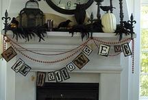 Halloween Mantle/Fireplace